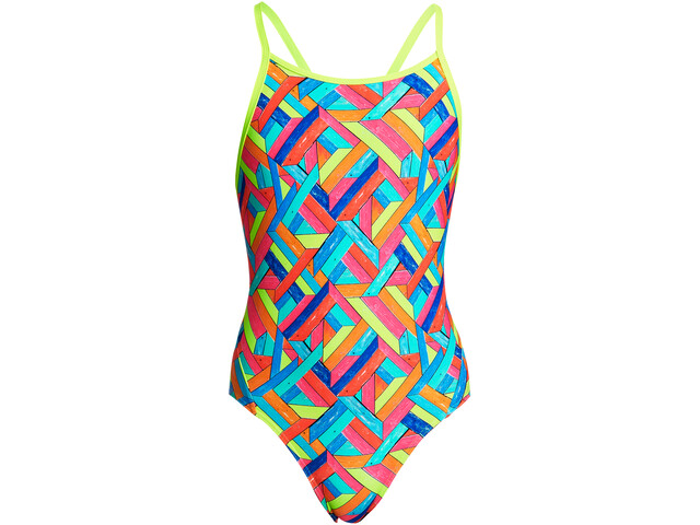 Funkita Diamond Back One Piece Uimapuku Tytöt, panel pop